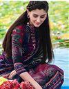 image of Blue Party Wear Pashmia Salwar Kameez-206B