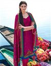 image of Pink Party Wear Straight Cut Pashmina Suit-207A
