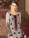 photo of Long Length Party Wear Crepe Salwar Kameez in Off White Color