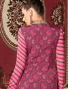 photo of Long Length Party Wear Crepe Salwar Kameez in Grey Color