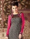 photo of Long Length Black Color Party Wear Salwar Kameez in Crepe Fabric