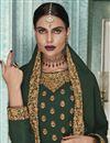 photo of Occasion Wear Georgette Fabric Embroidered Anarkali Salwar Kameez In Dark Green Color