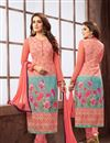image of Designer Festive Wear Pink Color Salwar Kameez With Digital Print Work