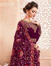 photo of Mesmeric Georgette Fabric Embroiderd Purple Designer Anarkali Salwar Suit