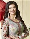 photo of Ayesha Takia Featuring Georgette Party Wear Salwar Suit In Multi Color With Embroidery Work