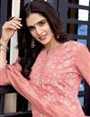 photo of Pink Color Festive Wear Lakhnavi Work Viscose Fabric Readymade Salwar Suit