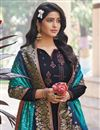 photo of Festive Wear Navy Blue Color Embroidered Art Silk Fabric Palazzo Suit