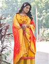 image of Festive Wear Yellow Color Embroidered Palazzo Dress In Art Silk Fabric