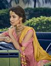 photo of Designer Function Wear Georgette Embroidered Pink Sharara Suit