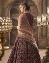 photo of Purple Designer Bridal Lehenga With Embroidery Work On Georgette Fabric