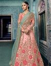 image of Eid Special Sangeet Wear Designer Traditional Lehenga In Net Fabric Pink With Embroidery