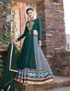 image of Ready to Ship Designer Embellished Multi Color Satin Printed Sharara Top Lehenga