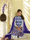 photo of Off White Embroidered Georgette Salwar Suit-50009