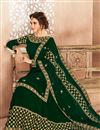 photo of Fancy Function Wear Georgette Designer Anarkali Dress In Green