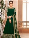 image of Embroidered Wedding Function Wear Anarkali Suit In Georgette