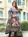 image of Designer Straight Cut Salwar Kameez In Multi Color  Satin Fabric