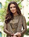 photo of Satin Designer Printed Straight Cut Salwar Suit