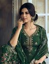 photo of Function Wear Green Color Fancy Embroidered Sharara Suit In Art Silk Fabric
