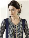 photo of Navy Blue Georgette Pakistani Style Suit-18008