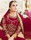 photo of Georgette Designer Fancy Long Floor Length Anarkali Dress In Red
