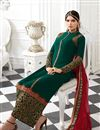 picture of Green Georgette Pakistani Style Designer Suit