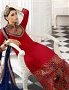 picture of Red Pakistani Style Georgette Salwar Kameez