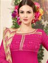 photo of Dazzling Pink Designer Palazzo Salwar Suit