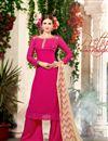 image of Dazzling Pink Designer Palazzo Salwar Suit