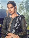 photo of Trendy Grey Color Festive Wear Embroidered Patiala Suit In Crepe Fabric