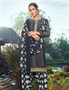image of Trendy Grey Color Festive Wear Embroidered Patiala Suit In Crepe Fabric