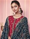 photo of Maroon Color Party Style Embroidered Art Silk Fabric Salwar Kameez