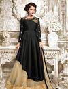 image of Party Style Fancy Beige Color Net Fabric Designer Sharara Top Lehenga