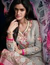 photo of Grey Color Long Length Georgette Salwar Kameez with Embroidery