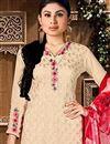 photo of Ravishing Mouni Roy Embroidered Georgette Salwar Suit in Beige Color