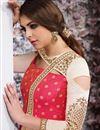 photo of Embroidery On Crimson Party Wear Anarkali Salwar Suit In Taffeta Silk