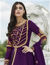 photo of Purple Fancy Embroidered Party Style Anarkali Dress In Georgette