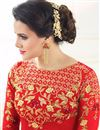 photo of Soothing Red Color Festive Wear Anarkali Salwar Suit In Georgette Fabric