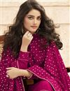 photo of Rani Color Georgette Fabric Party Wear Embroidered Palazzo Dress