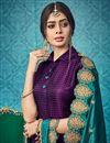 photo of Party Wear Purple Designer Anarkali Suit In Art Silk With Fancy Dupatta