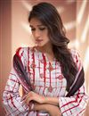 photo of Party Wear Art Silk Palazzo Salwar Suit With Print Work In Off White