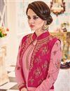 photo of Fancy Churidar Salwar Kameez With Jacket In Pink Color