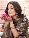 photo of Wedding Wear Mehendi Green Color Fancy Work Lehenga Choli In Net Fabric