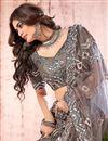 photo of Dark Beige Color Fancy Work Wedding Wear Lehenga Choli In Net Fabric
