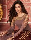photo of Occasion Wear Georgette Fabric Embroidered Anarkali Salwar Kameez In Burgundy