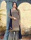 image of Sonal Chauhan Georgette Embroidered Sharara Suit