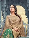 photo of Sonal Chauhan Georgette Beige Fancy Sharara Suit