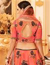 picture of Designer Function Wear Embroidered Art Silk Lehenga
