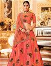 image of Designer Function Wear Embroidered Art Silk Lehenga