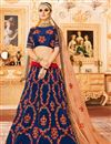 image of Best Selling Art Silk Embellished Wedding Function Wear Lehenga