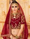 photo of Best Selling Embroidered Art Silk Fancy Wedding Wear Lehenga Choli In Maroon